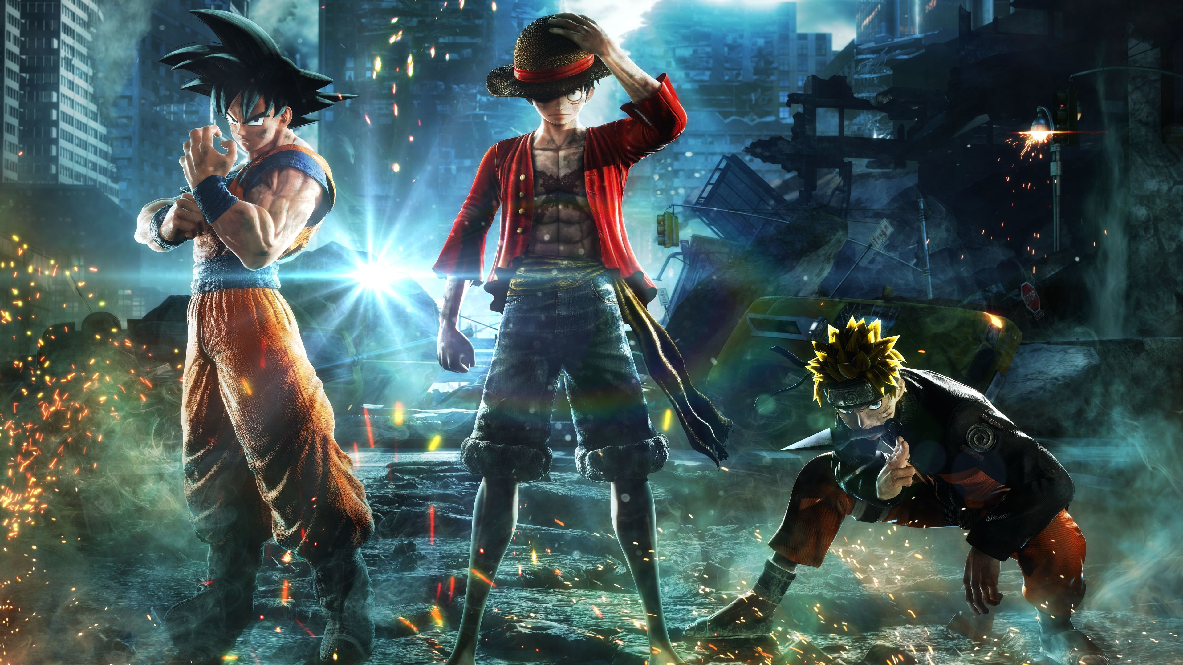 Goku Monkey D Luffy Naruto Jump Force 8k Naruto Wallpapers Monkey D Luffy Wallpapers Jump Force Wallpapers In 2020 Anime Characters Goku Wallpaper Naruto Wallpaper
