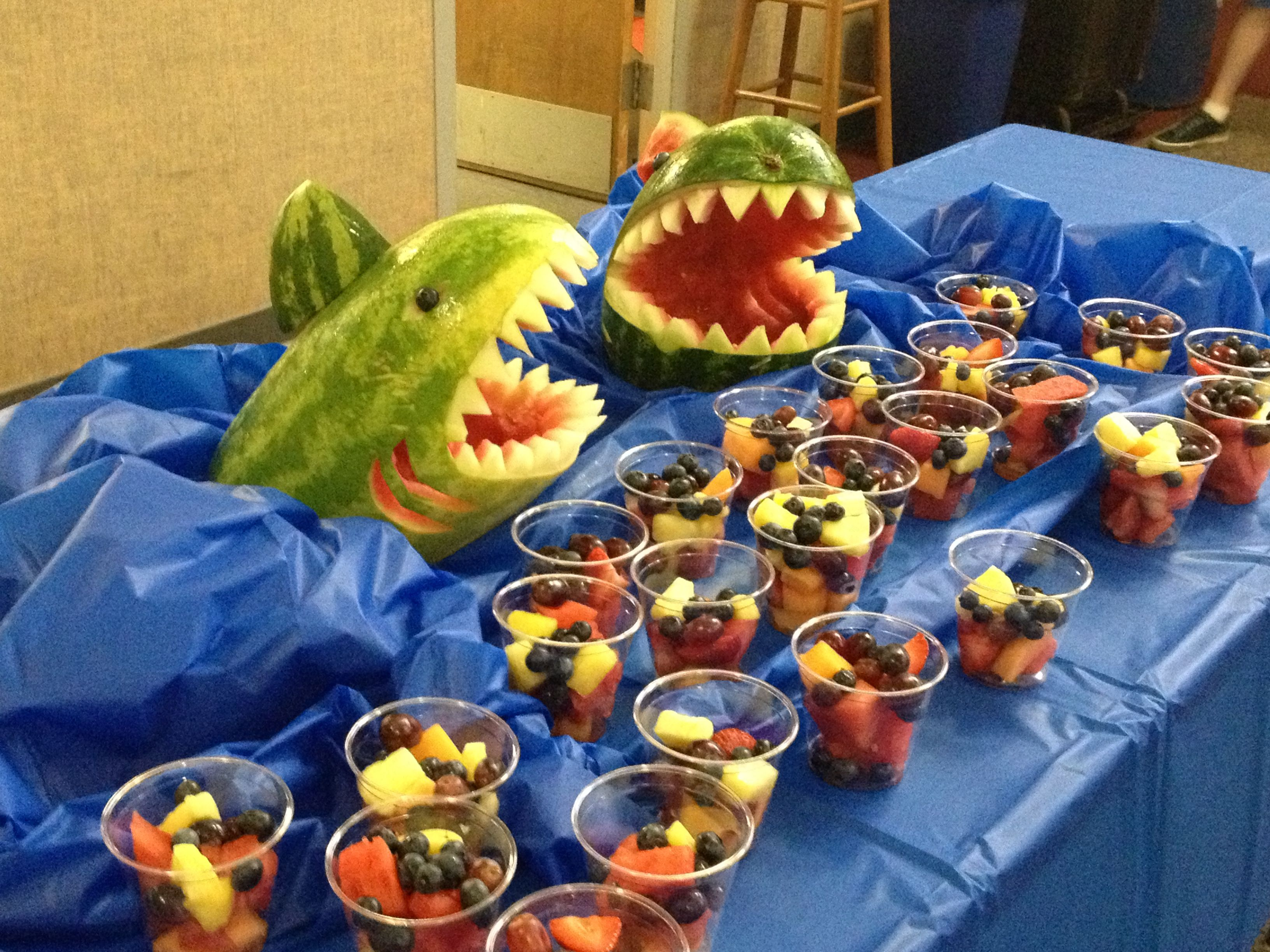 watermelon shark vbs snack parting of the red sea use blue