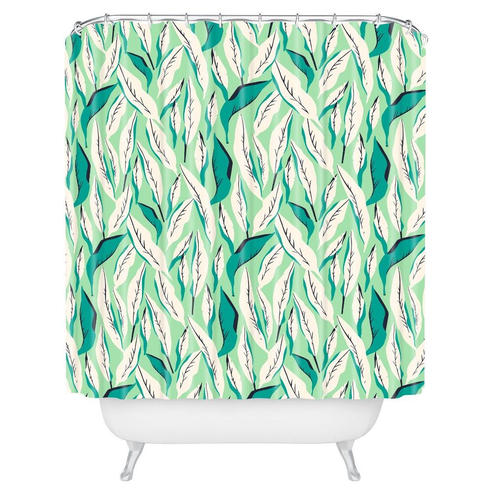 Shower Curtain Leaf Green - Deny Designs