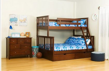Best Safe Wood Double Deck Bunk Bed Designs For Small Kids 400 x 300