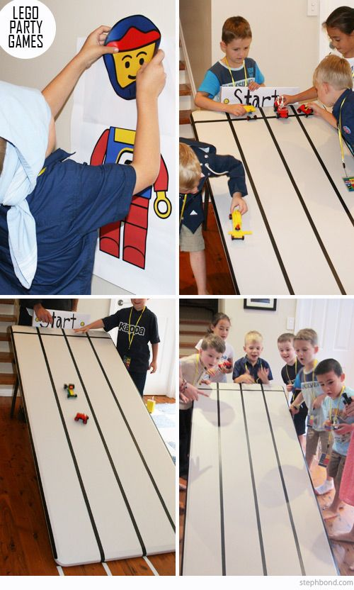 LEGO Party - race track on table! | Lego party | Pinterest | Race ...