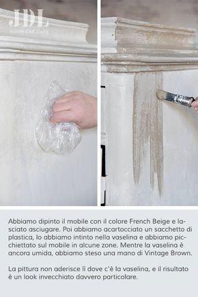 Tecnica invecchiamento mobili passioni nel 2019 furniture makeover shabby vintage e shabby - Tecnica shabby per mobili ...
