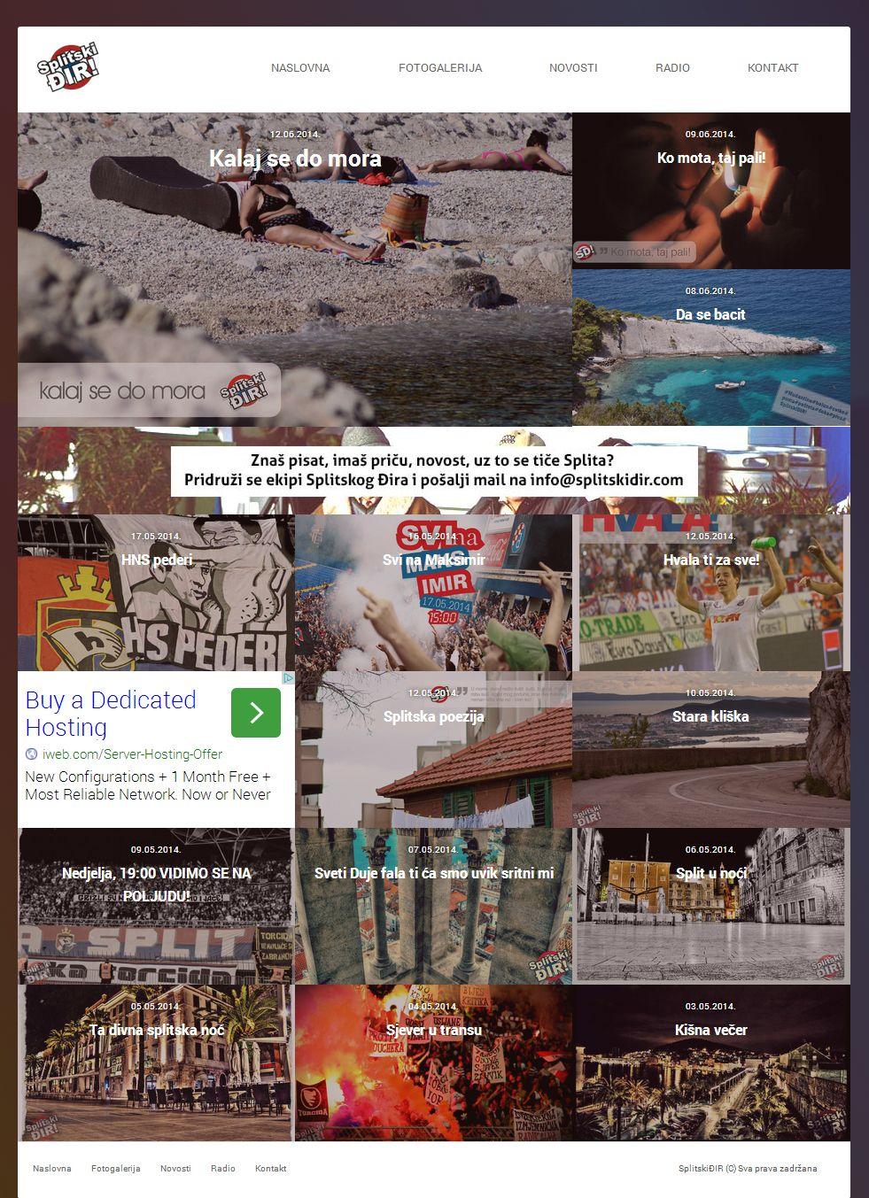 Photo web site design #webdesign