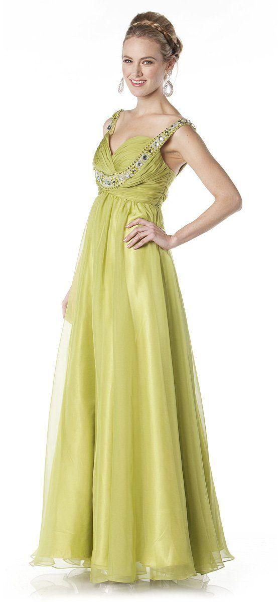Green Goddess Prom Dress