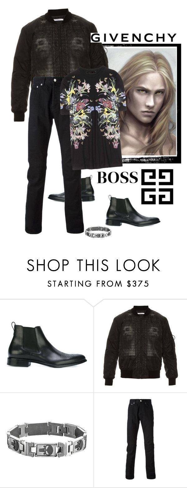 """The Boss"" by yishdelish ❤ liked on Polyvore featuring Givenchy, Marvel, men's fashion and menswear"