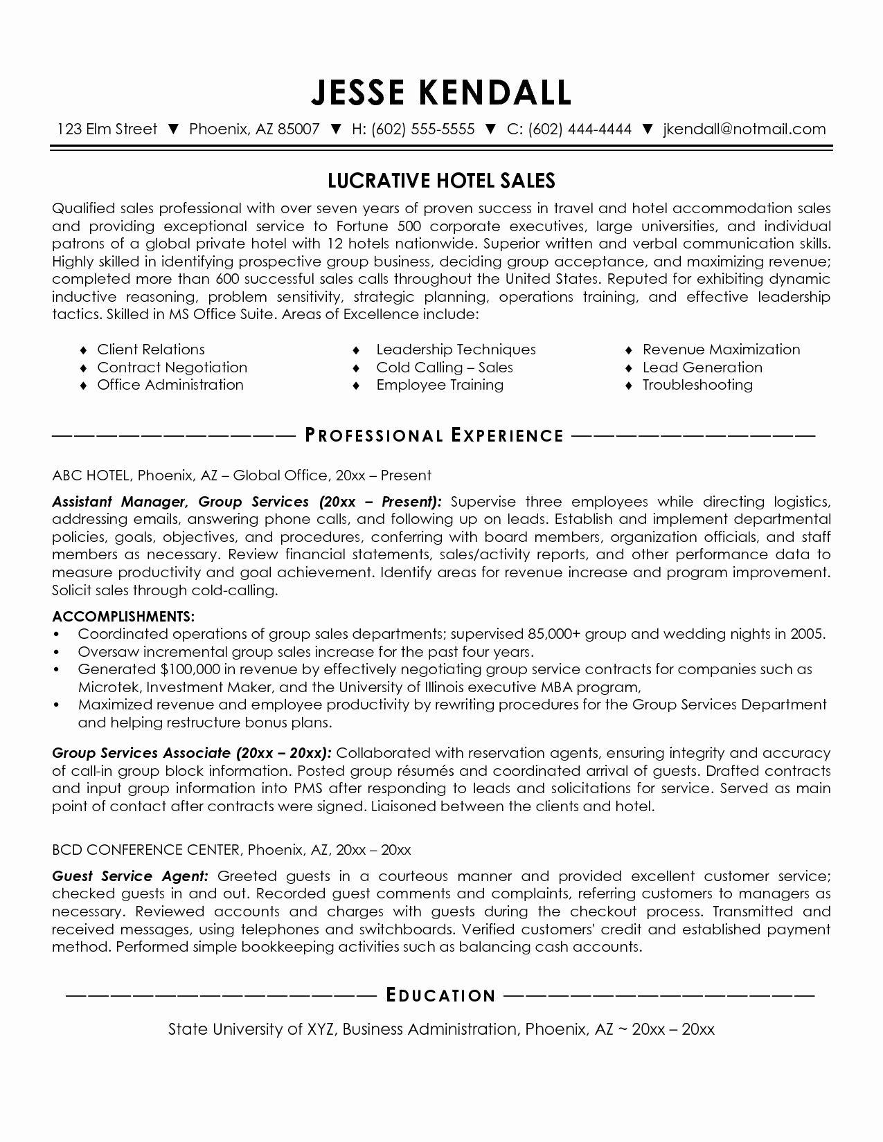 Awesome Hotel Sales Manager Resume Resume Template Ideas Sales Resume Examples Resume Examples Manager Resume