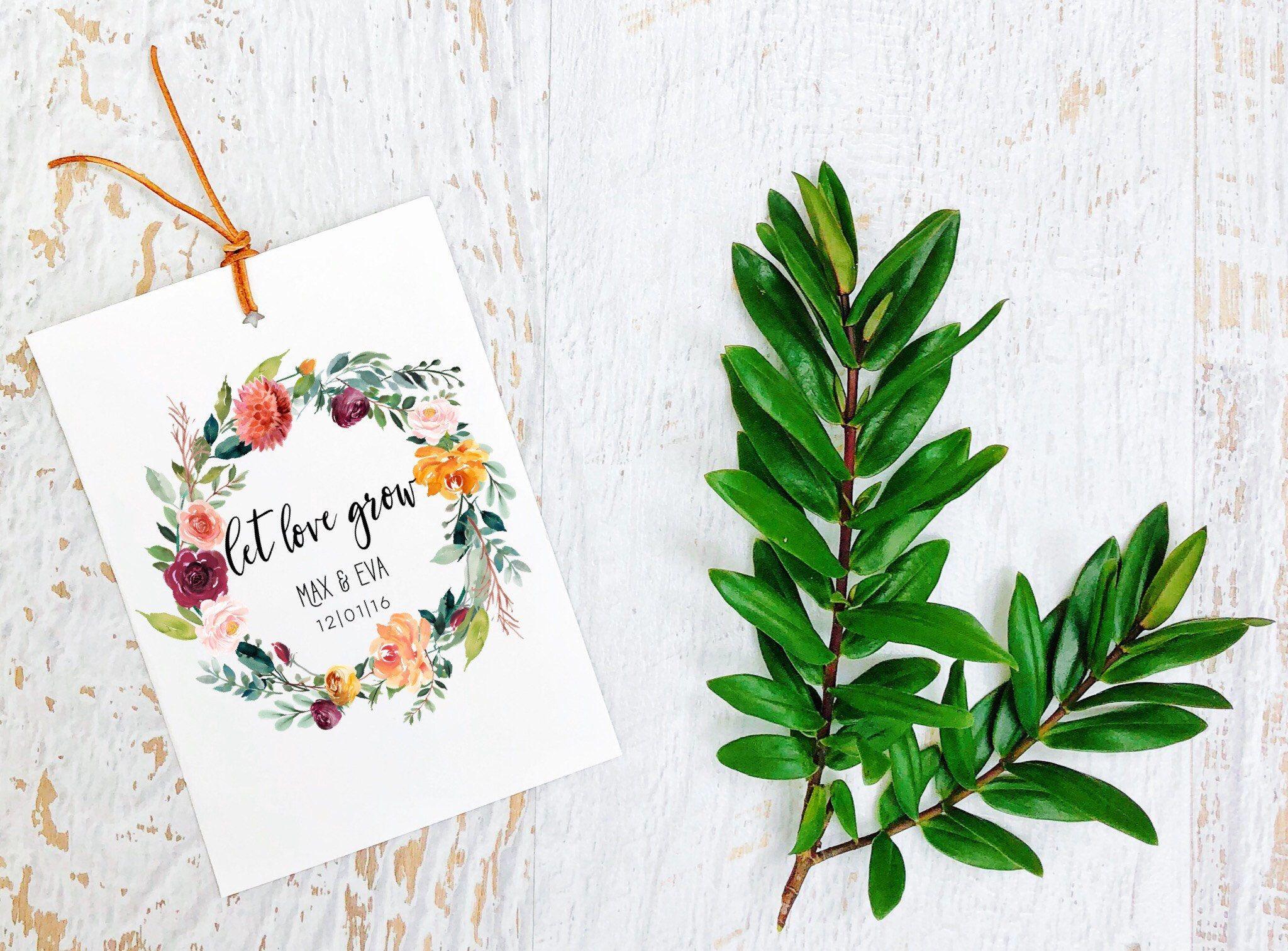 Wedding Seed Packet-Custom seed packet-Let love grow seed packet ...