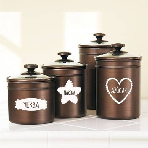 vinilo decorativo para cocina etiquetas frasco | vinilos | Pinterest ...