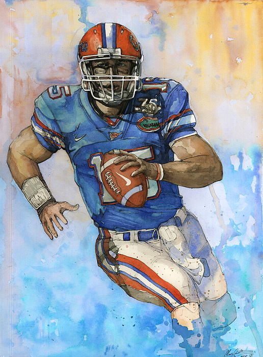 Page Not Found Football Art Tim Tebow Sports Art