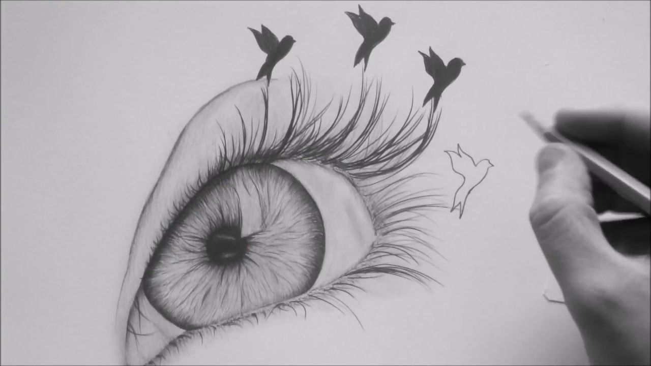 How To Draw An Eye With Pencil In 2020 Pencil Drawings Of Flowers Bird Drawings Abstract Drawings