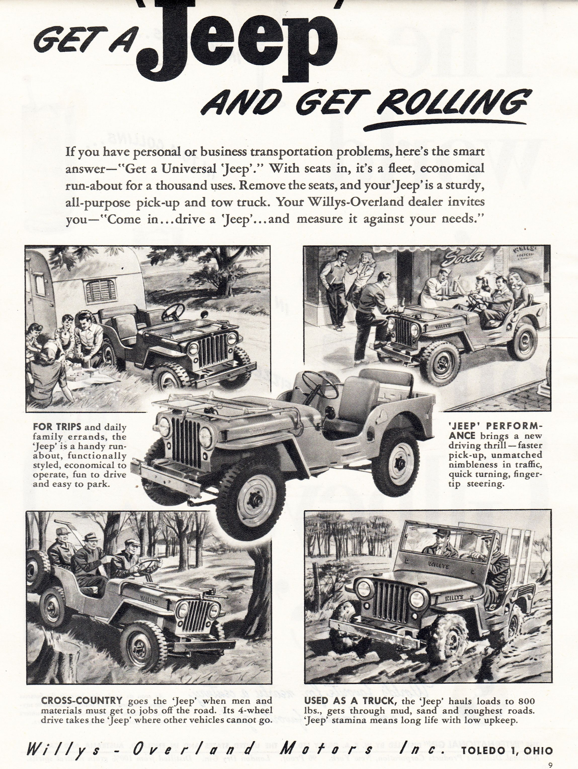 1946 Jeep Willys Overland Motors Inc Willys Jeep Old Jeep