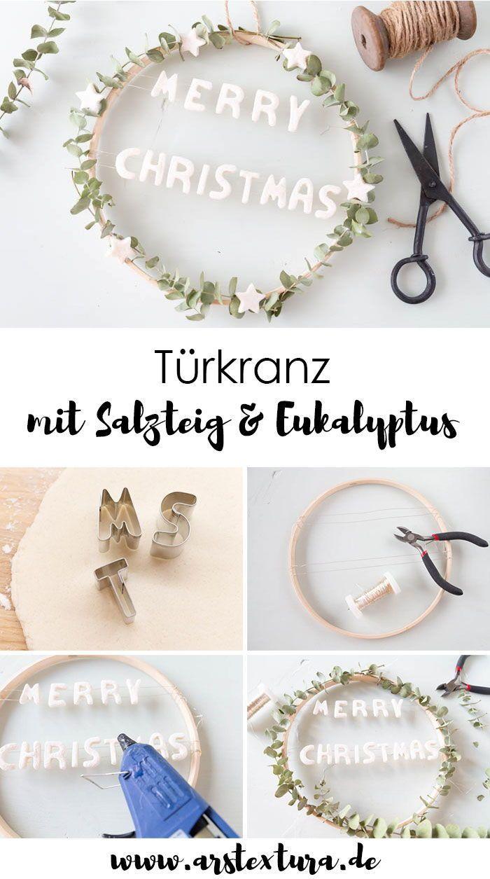 Photo of Eucalyptus wreath with salt dough decoration ars textura – DIY blog