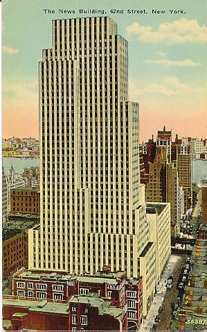 NY Architecture Images  Midtown Daily News Building Also Known As The News  Building. (1929 30)It Is Known As The Model For The Headquarters Of The  Fictional ...