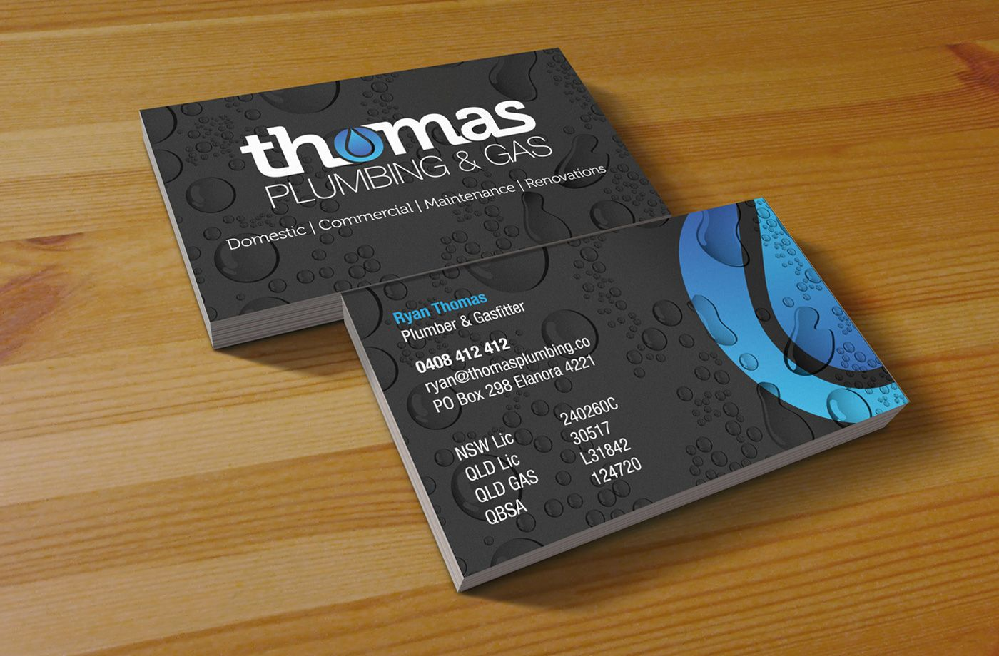 Plumbing Business Cards Examples