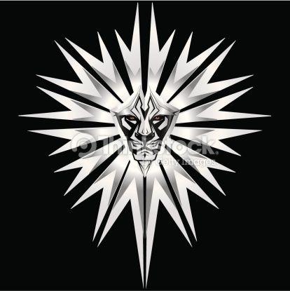 Metallic lion : Arte vectorial
