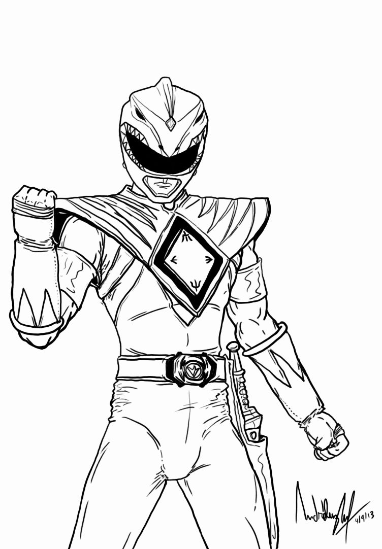 Power Rangers Coloring Pages Uk Collection