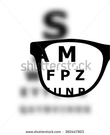 06b84d89ac7 Eye test blurred with glasses vector vision