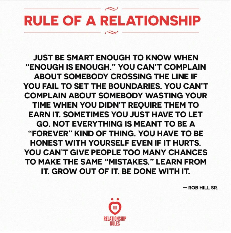 When Enough Is Enough When Enough Is Enough Enough Is Enough Relationship Rules