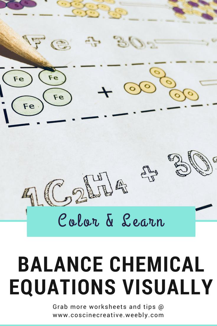 Balancing Chemical Equations Worksheet Chemical Equation Chemistry Worksheets Equations [ 1102 x 735 Pixel ]