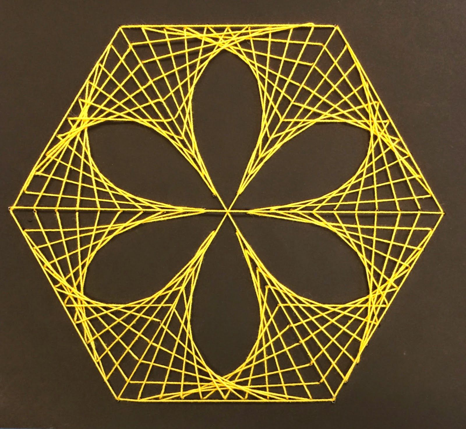 Mathematic String Art | String art, Scissors and Paper embroidery