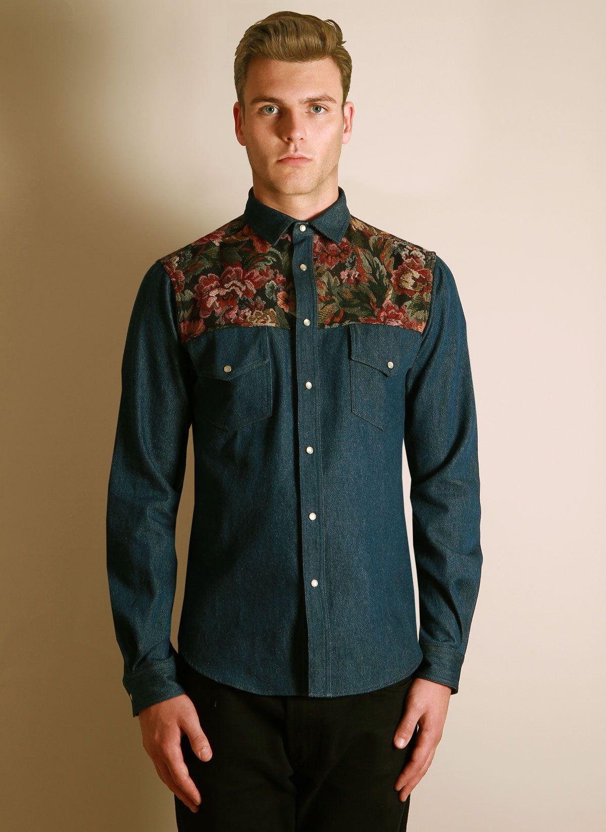 221cca5d9303 To-orist - Denim Tapestry Shirt