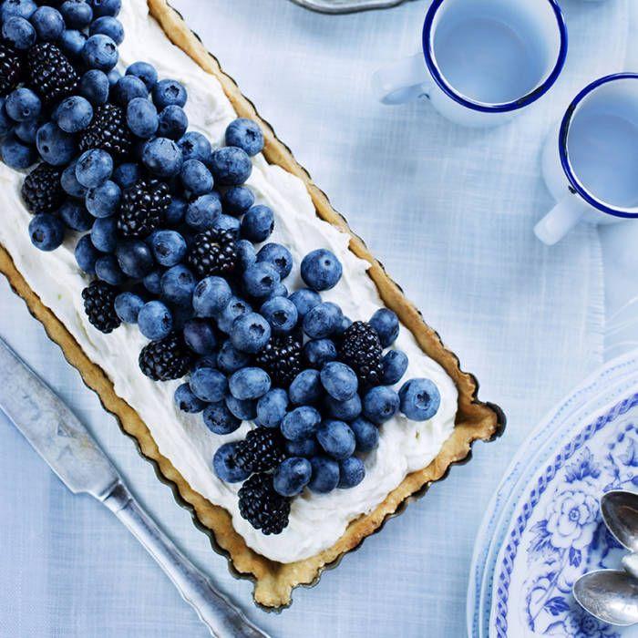 Paj med blåbär & mascarpone
