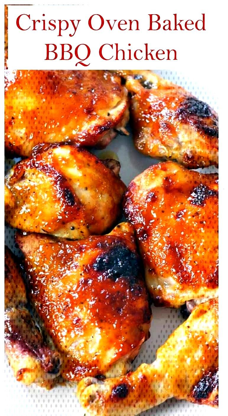 Two Ingredient Crispy Oven Baked BBQ Chicken >> The Best Baked BBQ Chicken