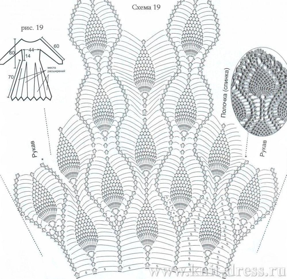 Узоры из ананасов схемы крючком
