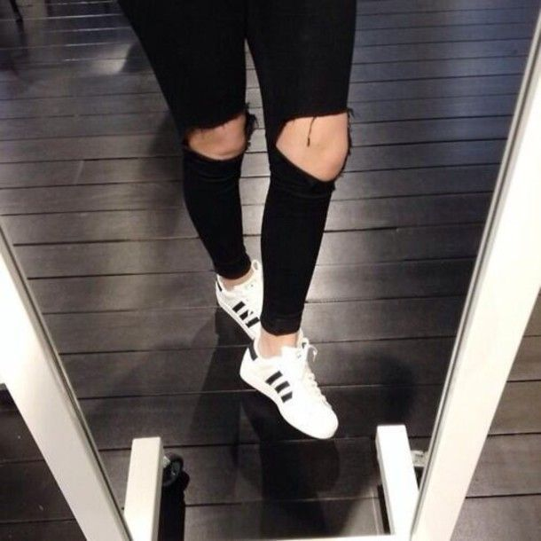 adidas superstar white black women outfit adidas superstar women for sale