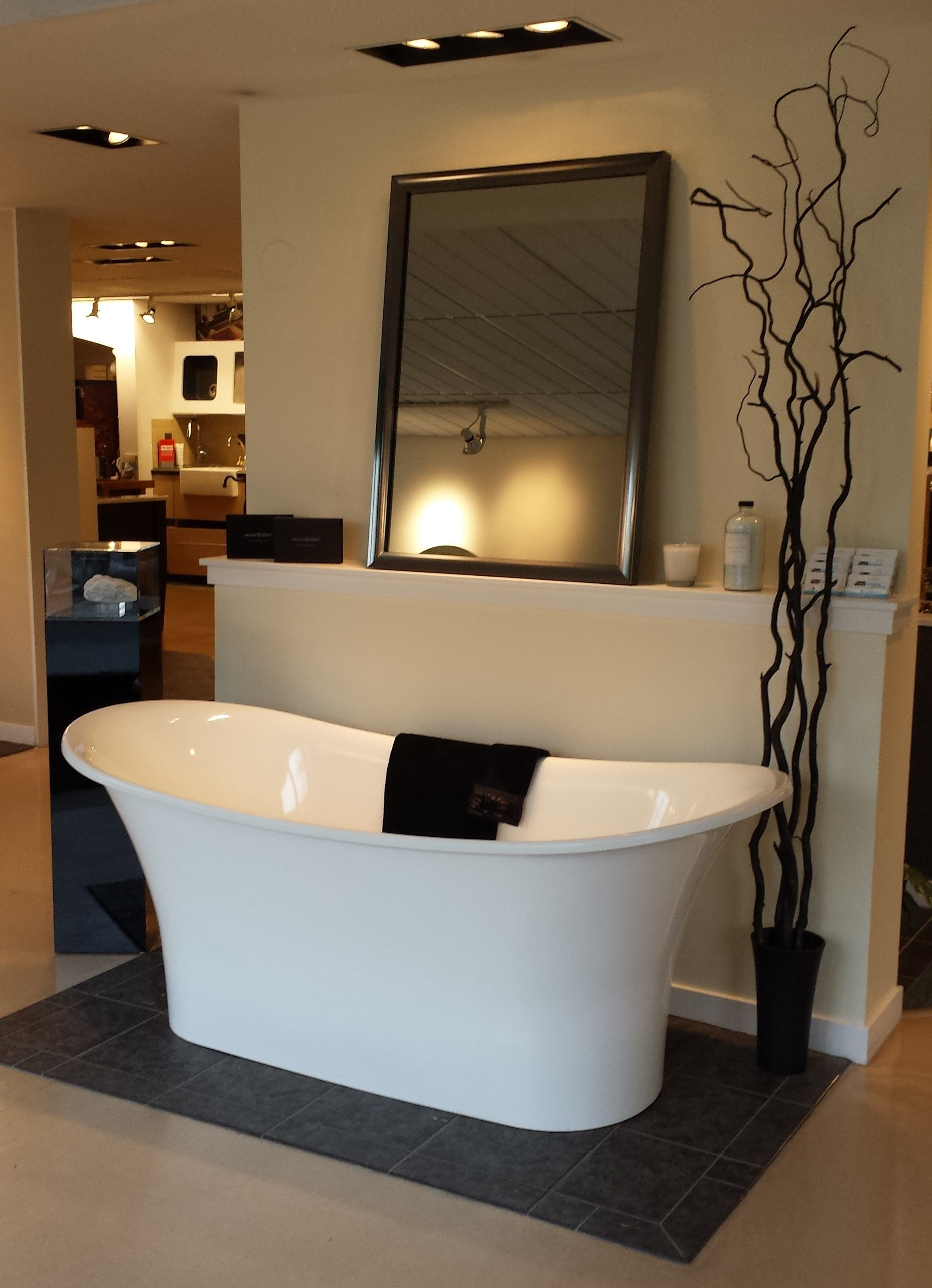Victoria Albert Toulouse Tub With An Electric Mirror On Display At Best Plumbing