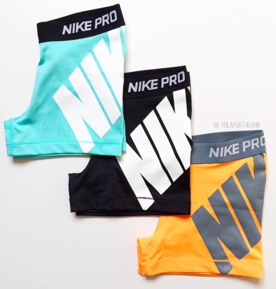 3266f318bf5248 nike pro logo shorts  fitspo