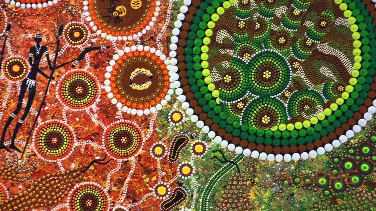 How does Aboriginal art create meaning Aboriginal art