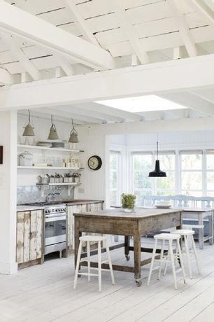 Cottage kitchen with restoration hardware vintage barn pendant cottage kitchen with restoration hardware vintage barn pendant black whitewashed exposed beam ceiling wood counters mozeypictures Images