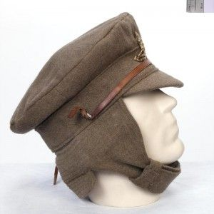 British Army issue M1915 winter field service trench cap