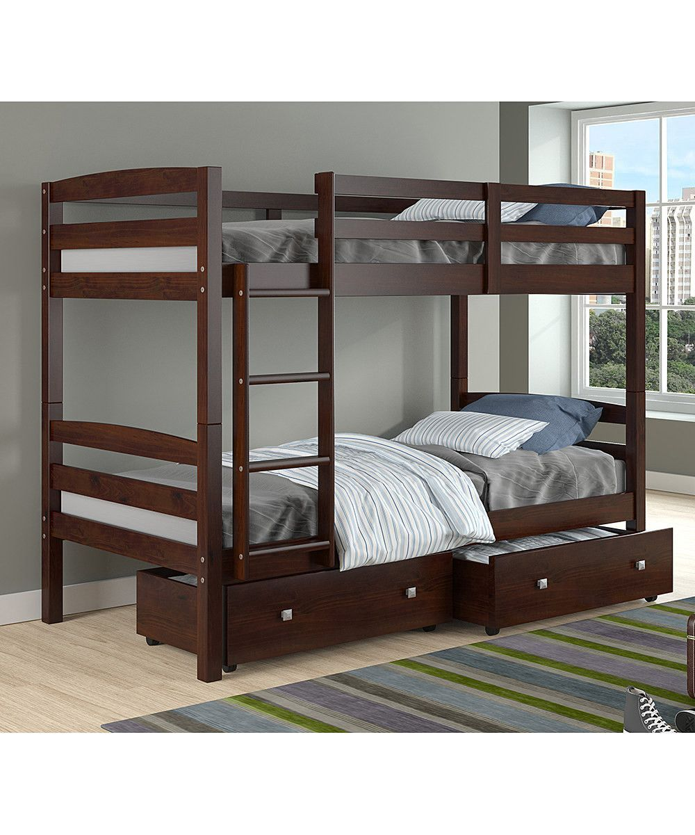 Best Dylan Cappuccino Bunk Bed For Girls Or Boys Modern Bunk 400 x 300
