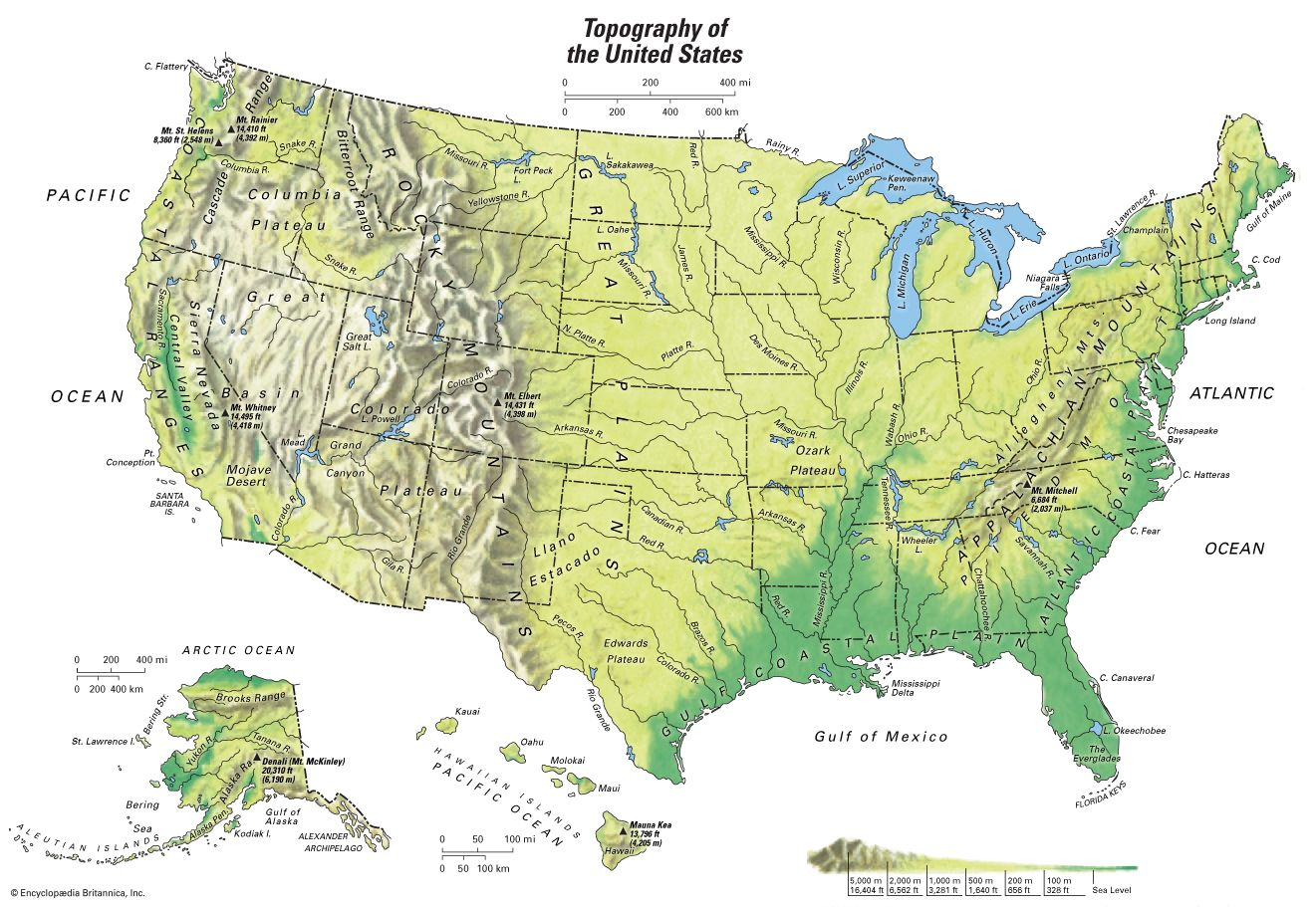 Map Still Topographical Map Of The United States