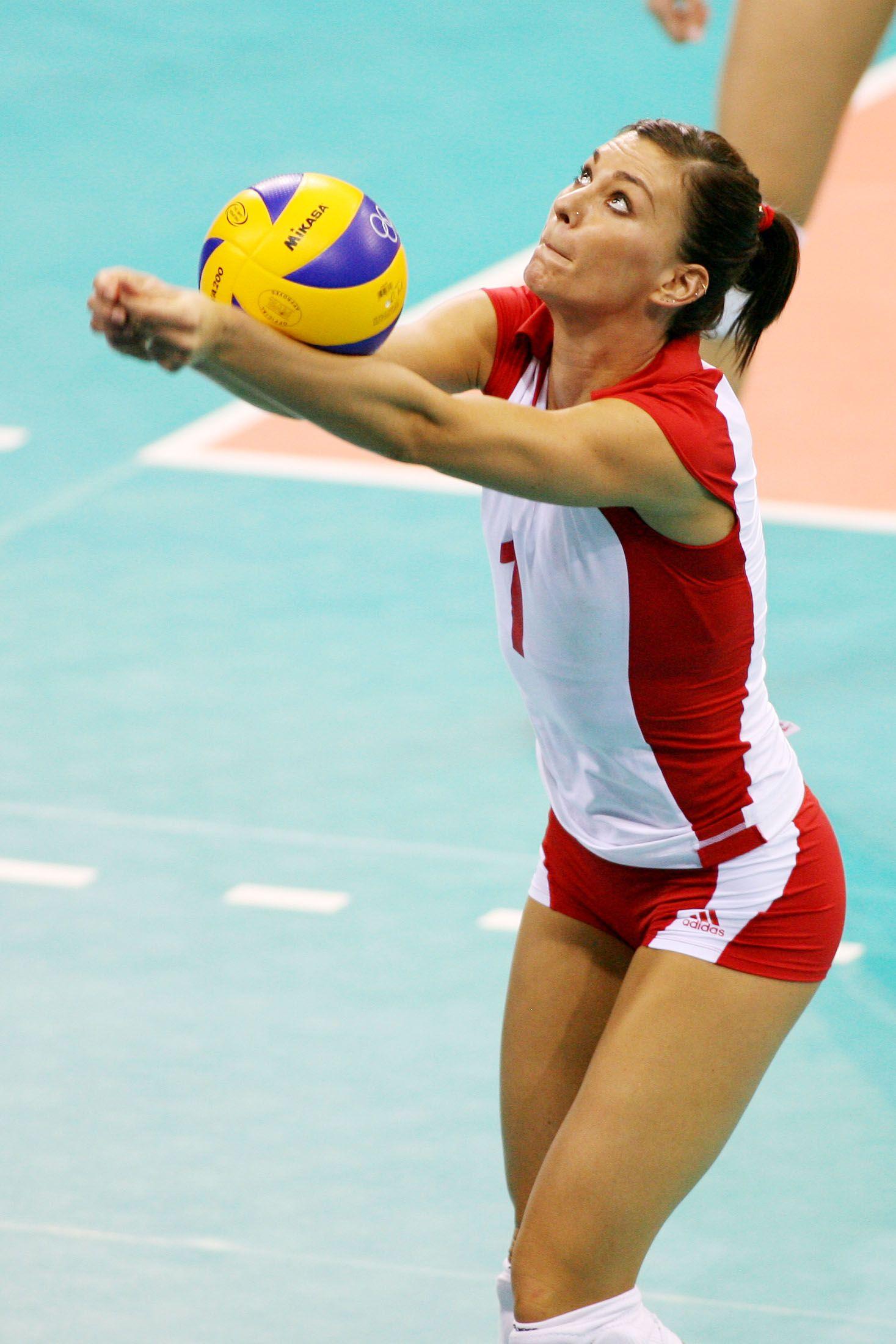 Katarzyna Ewa Skowronska Dolata Polish Volleyball Player Esportes Volei