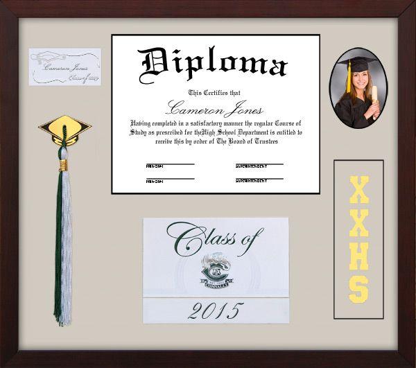 Shadow Box High School Tassel Diploma Frame Shadow Box Graduation Graduation Frame Shadow Box