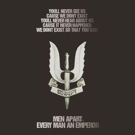 Indian Army Para Special Forces Balidan Badge Motto Men Apart