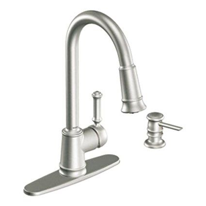 Moen Ca87012srs Pullout Spray High Arc Kitchen Faucet With Reflex Technology From The Lindley Collection