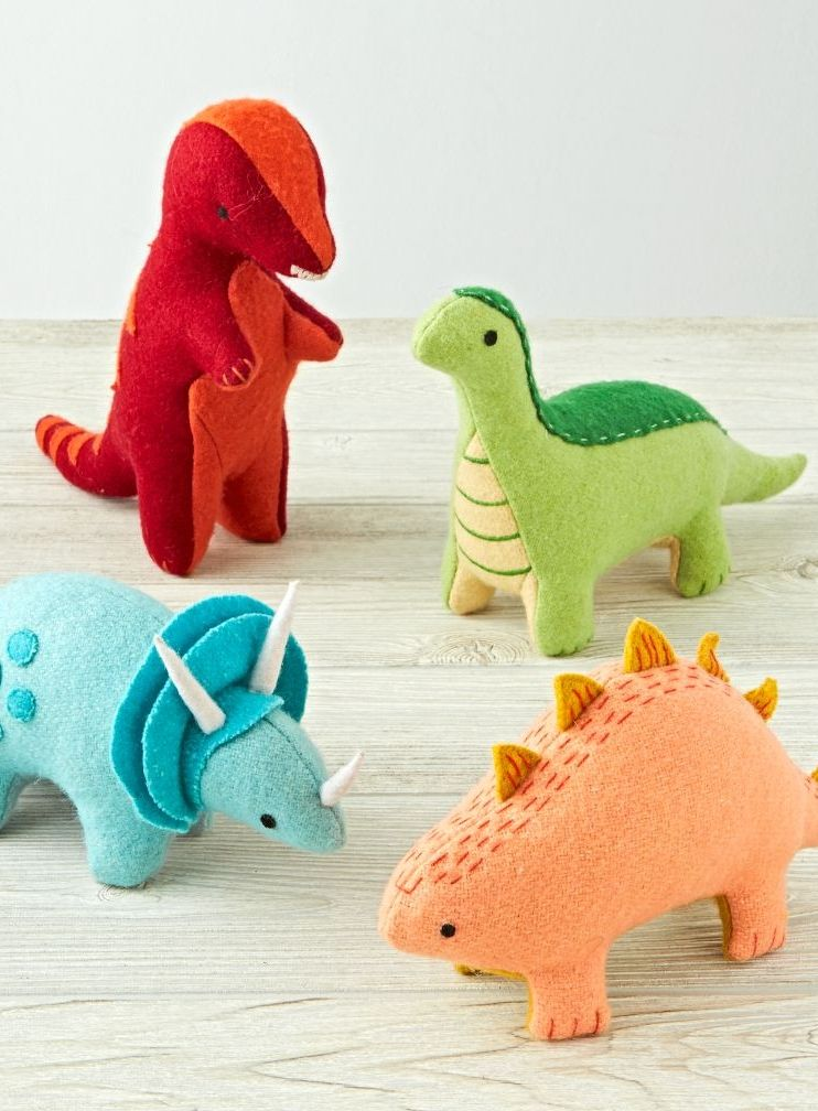 Shop Dinosaur Stuffed Animals (Set Of 4). This collection of plush dinosaurs has waited millions of years to roam your home.