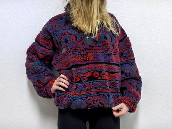 Columbia Tribal Fleece Pullover Jacket by justforkeepsvintage | My ...
