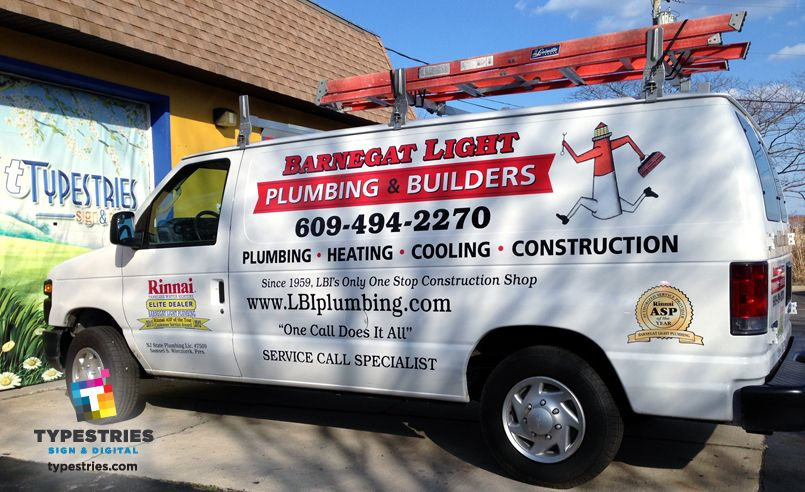 Barnegat Light Plumbing Builders Color Vinyl Van Lettering