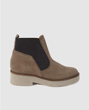 5d4d47fb Botines de mujer Zendra Basic de serraje con elásticos | zapatos ...