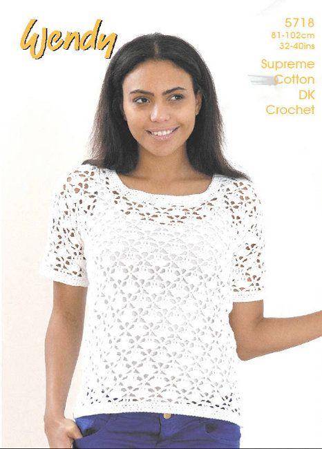 Wendy Crochet Pattern 5718: Casual crochet in Supreme Cotton DK ...