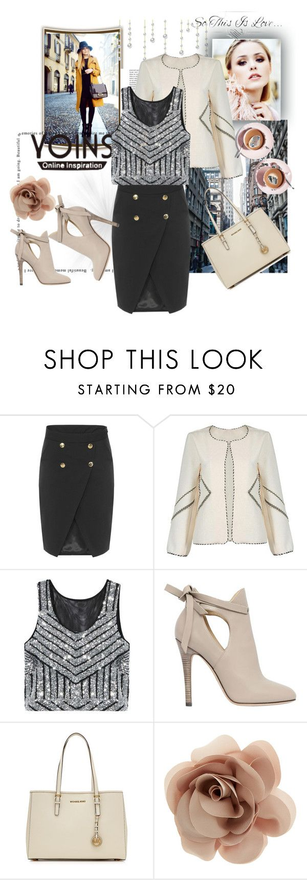 """YOINS 16"" by nedim-848 ❤ liked on Polyvore featuring Jimmy Choo, MICHAEL Michael Kors, Accessorize, Martha Stewart, women's clothing, women, female, woman, misses and juniors"