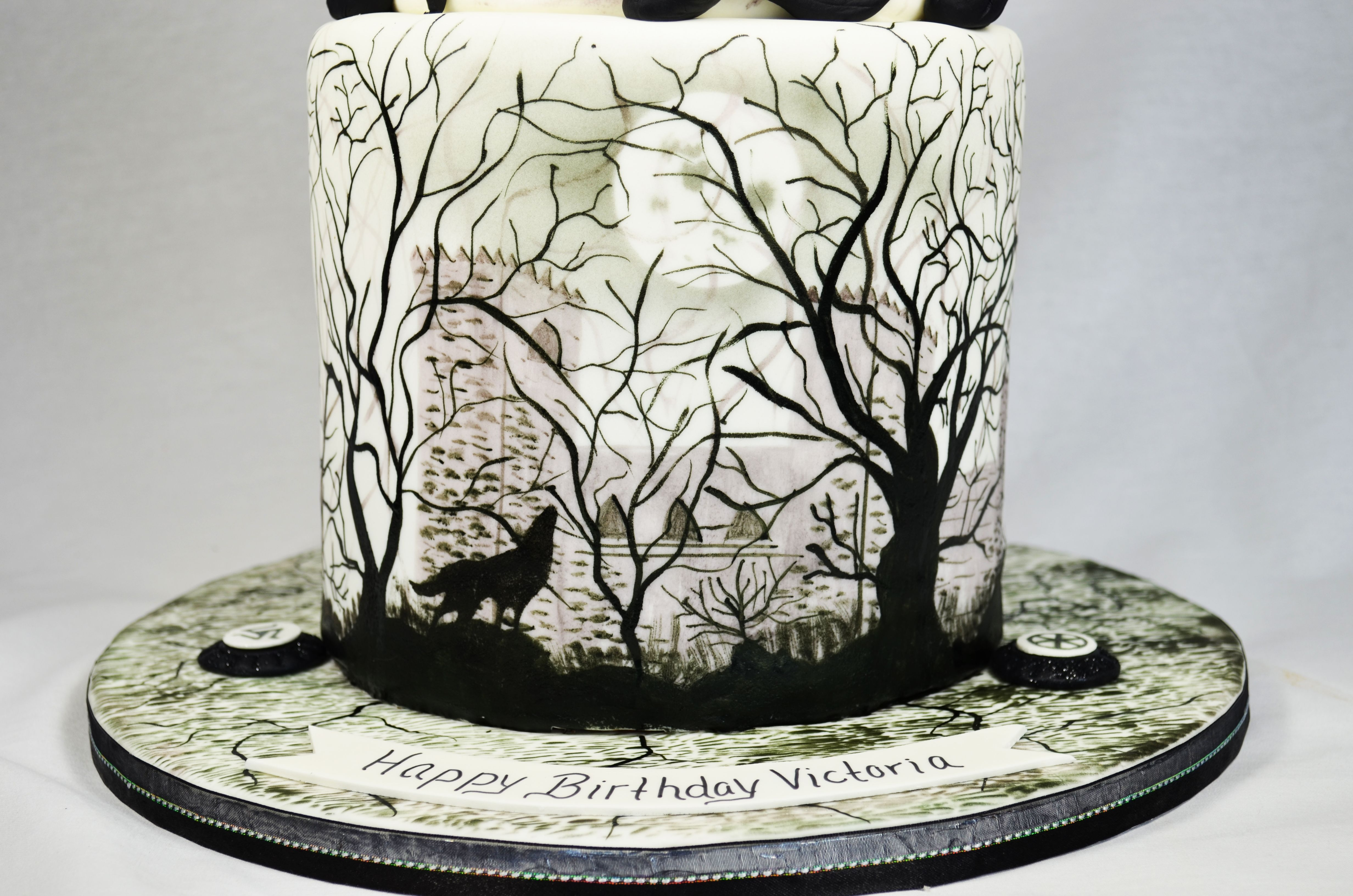 Teen Wolf Birthday Cake Double Barrel First Tier With Hand Painted