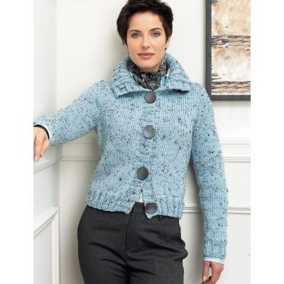 Cardigan with Straight Sleeves | Knitting Patterns | Pinterest ...