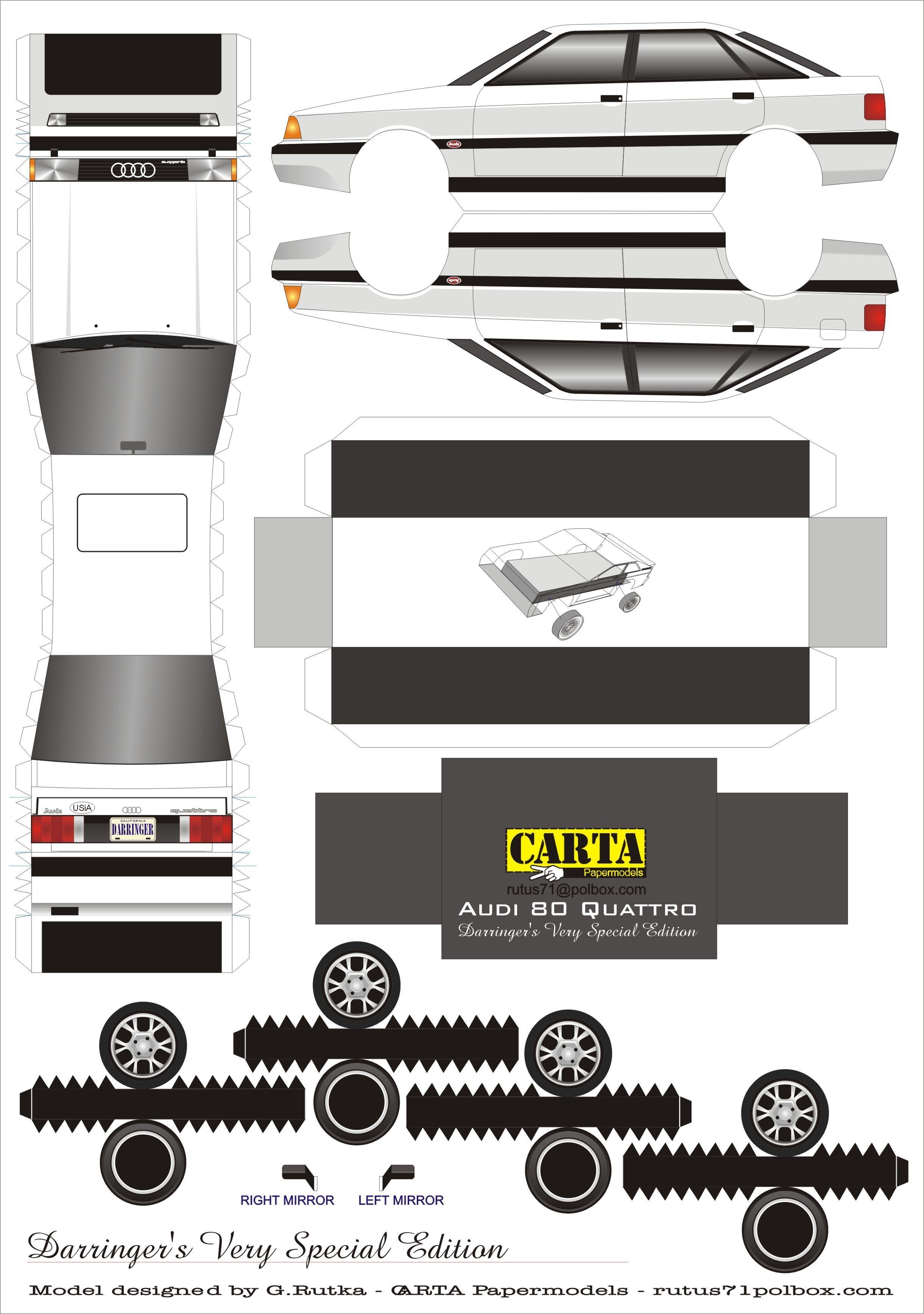 Descarga Uno De Nuestros Modelos Armables Quattro Sedan アウディ ペーパークラフト 紙