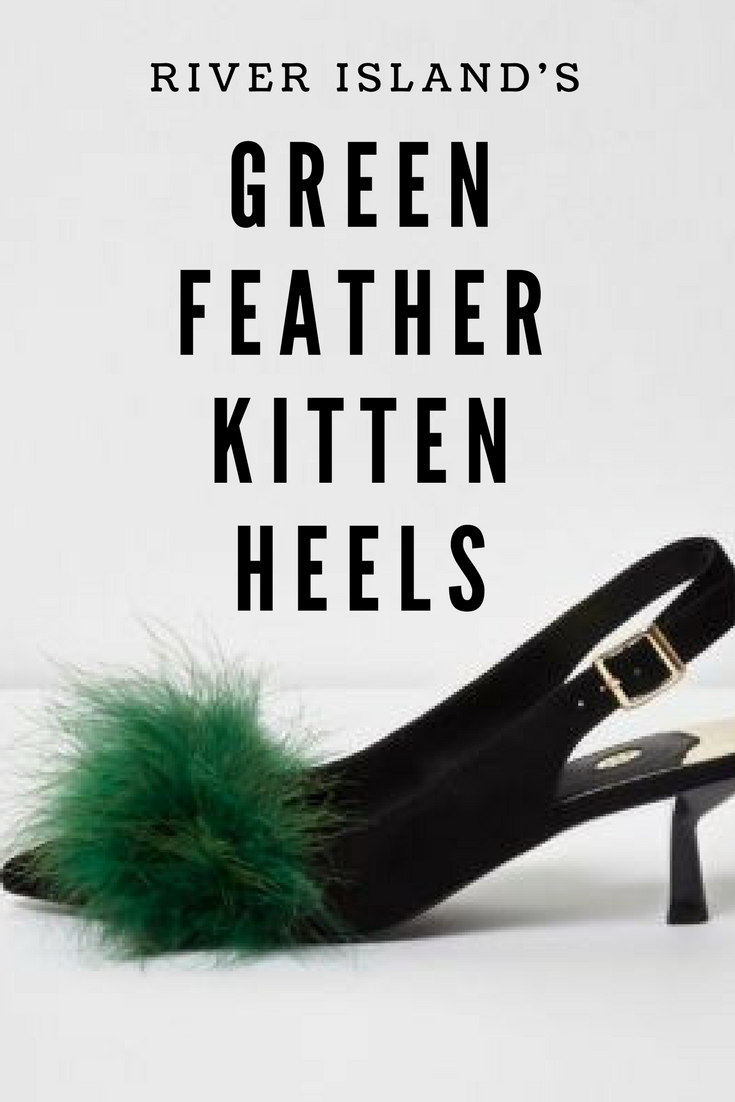 These Heel Are So Much Fun I Love The Green Feather Detail On These Slingback Kitten Heels Heels Ad Kittenheels Partyshoes Kitten Heels Heels Party Shoes